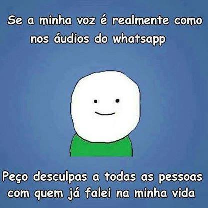 Áudio do whatsapp