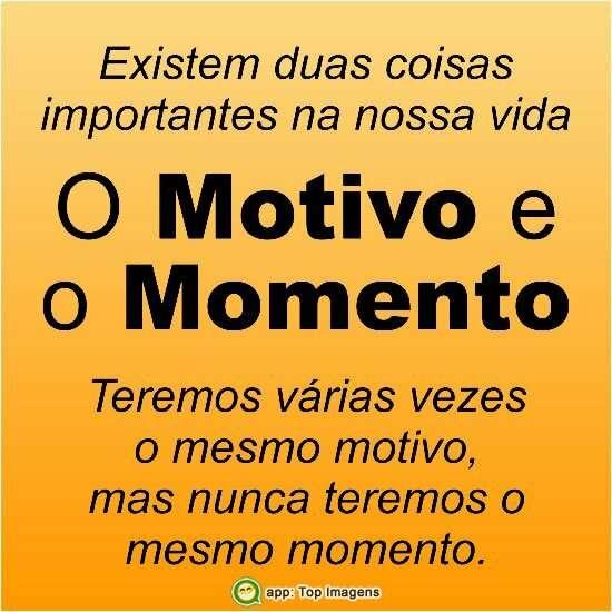 Motivo e momento