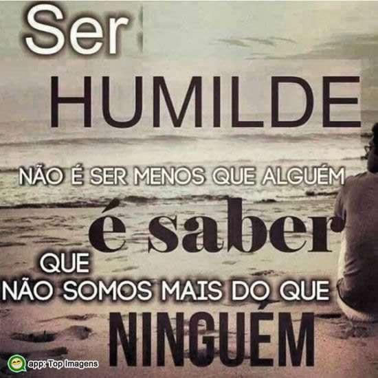Ser humilde