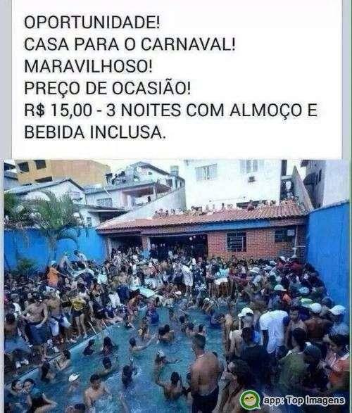 Casa para o carnaval