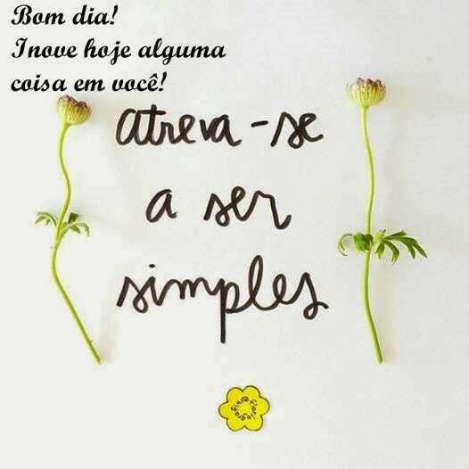 Atreva-se a ser simples