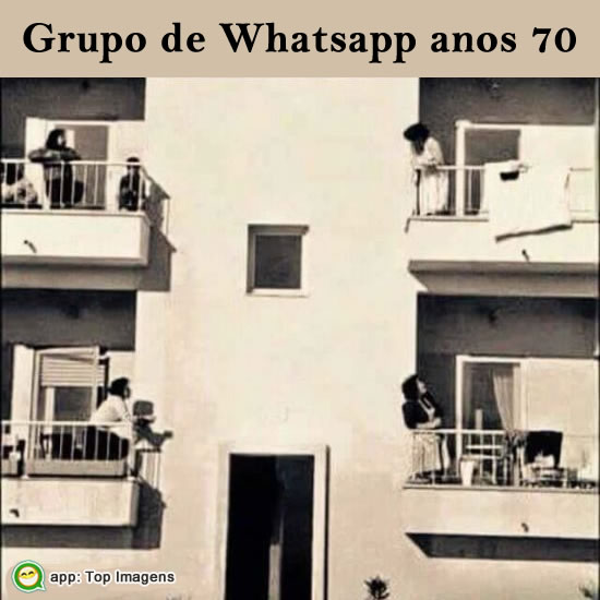 Grupo de whatsapp antigo