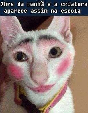 Maquiada pela manhã