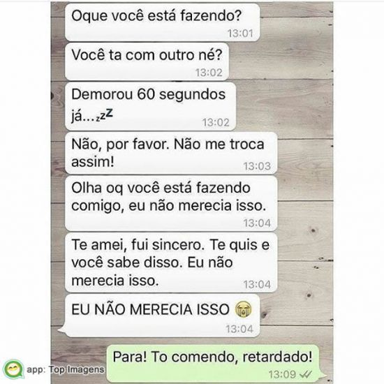 Impaciente no whatsapp