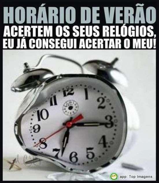 Acerte o relógio