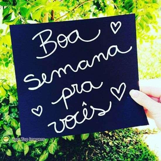 Boa semana pra vocês