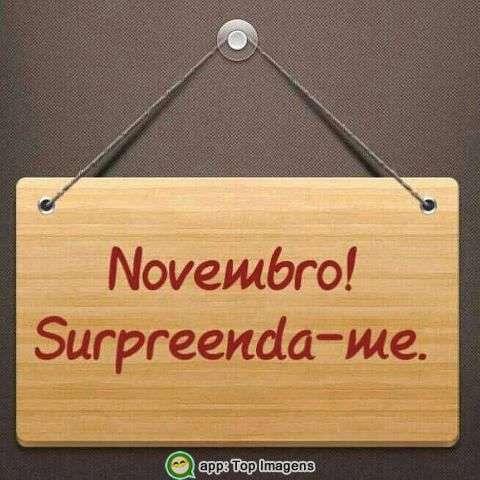 Novembro surpreenda-me