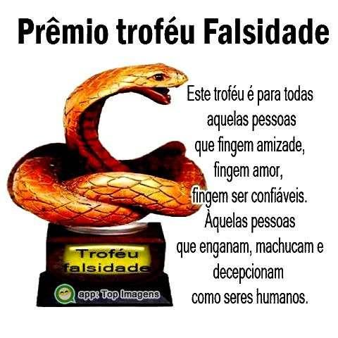 Prêmio troféu falsidade