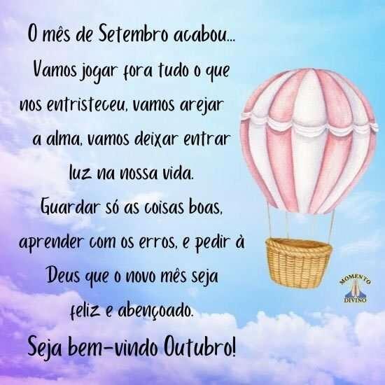 Seja bem-vindo outubro