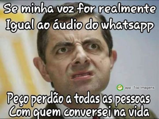 Voz no áudio do Whatsapp
