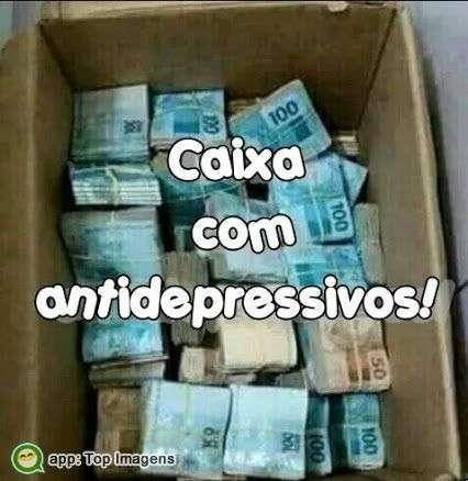 Caixa com antidepressivos