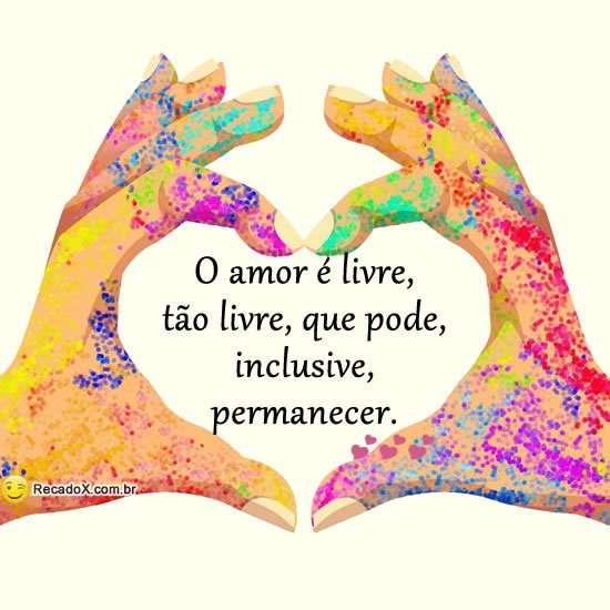 O amor é livre