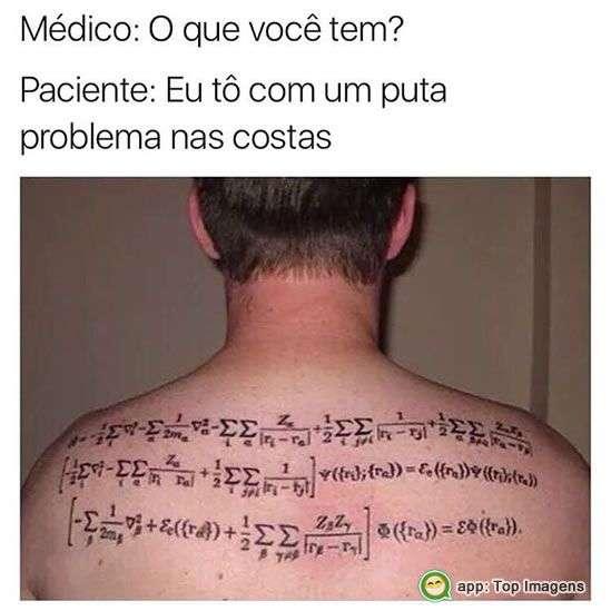 Problema nas costas