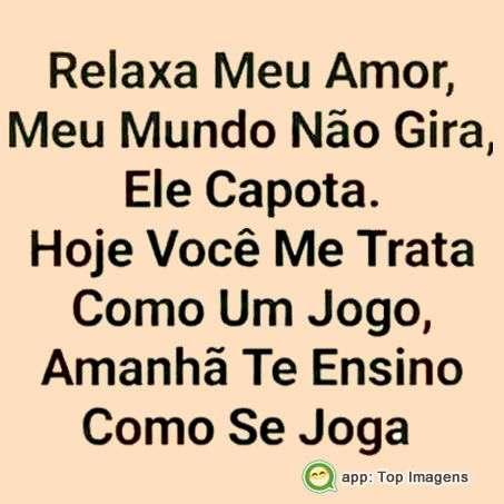Relaxa meu amor