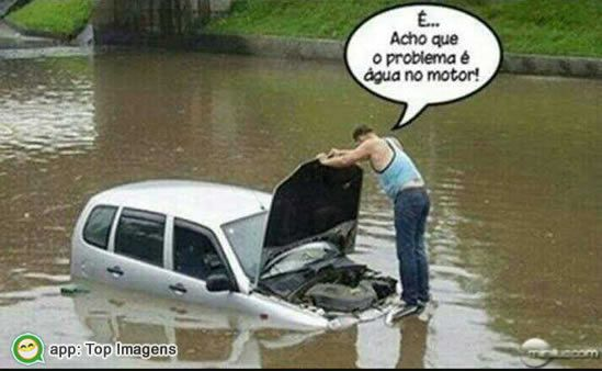 Água no motor