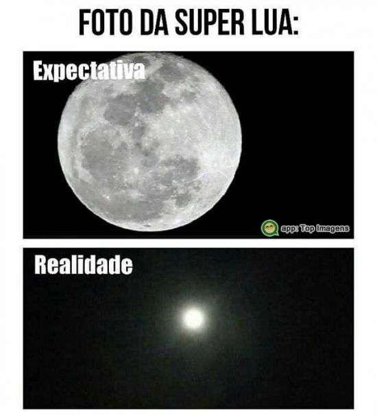 Expectativa e realidade da super lua