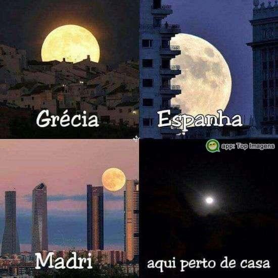 Lua perto de casa