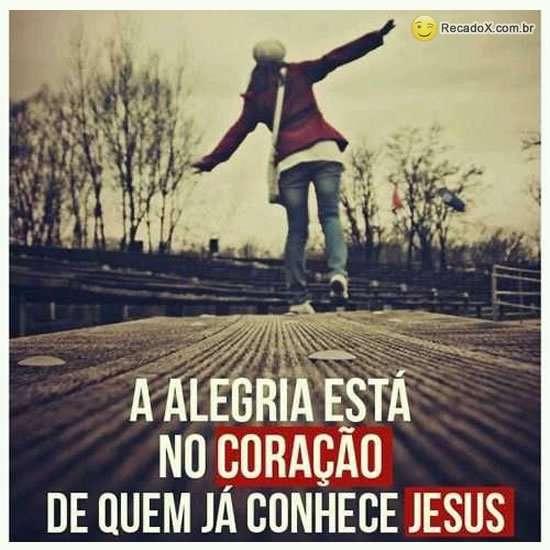 A alegria esta em Jesus