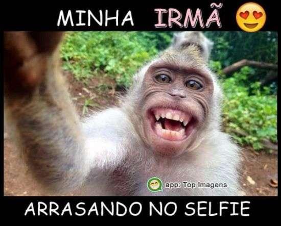 Minha irmã arrasando no selfie
