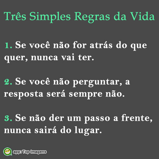 Regras simples da vida