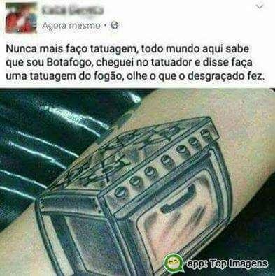 Tatuagem do fogão