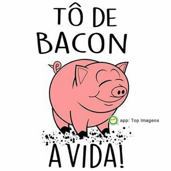 Tô de bacon a vida