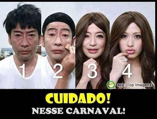 Cuidado nesse carnaval