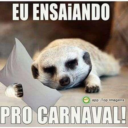 Ensaiando para o carnaval