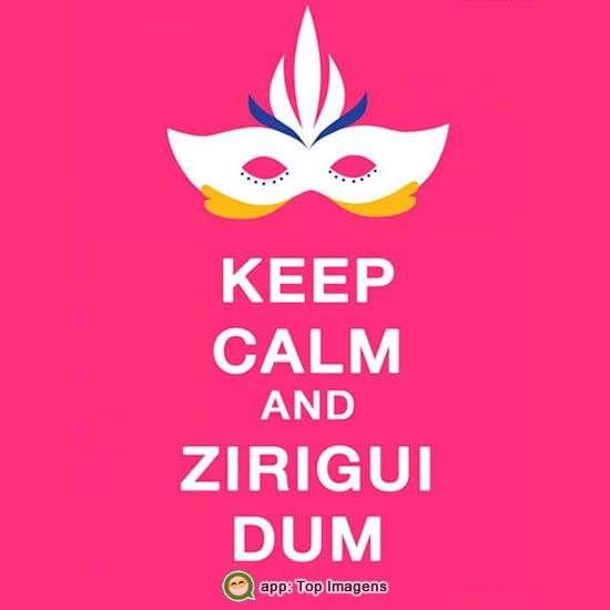 Keep calm e bom carnaval