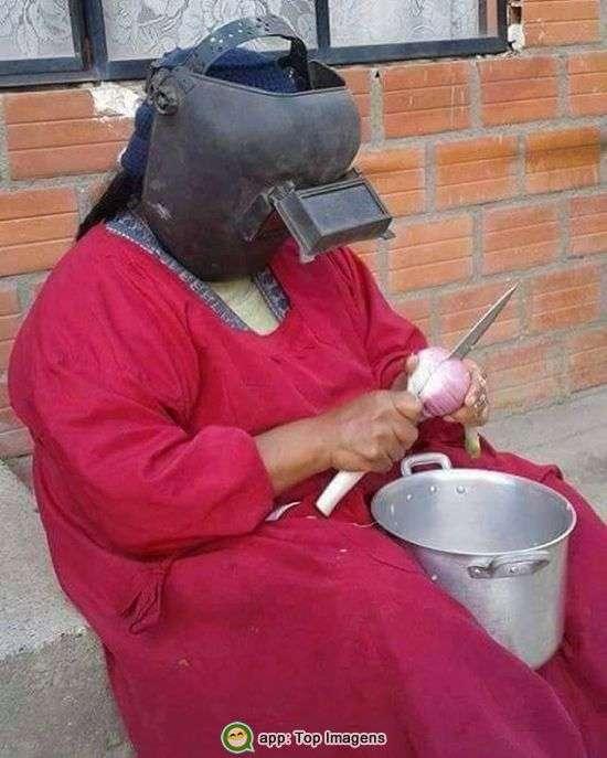 Picando cebola