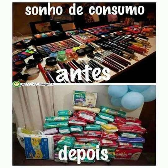 Sonho de consumo antes e depois