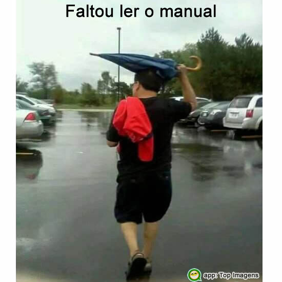 Faltou ler o manual