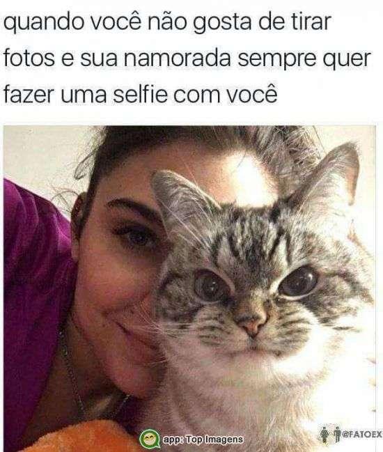 Fazendo selfie