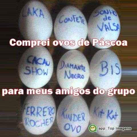 Ovos de páscoa pro grupo