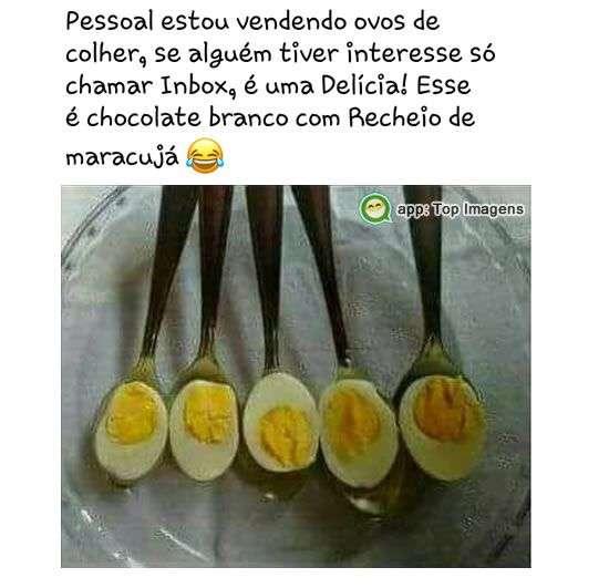 Vendo ovos de colher
