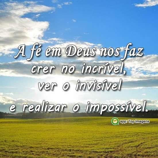 A fé em Deus