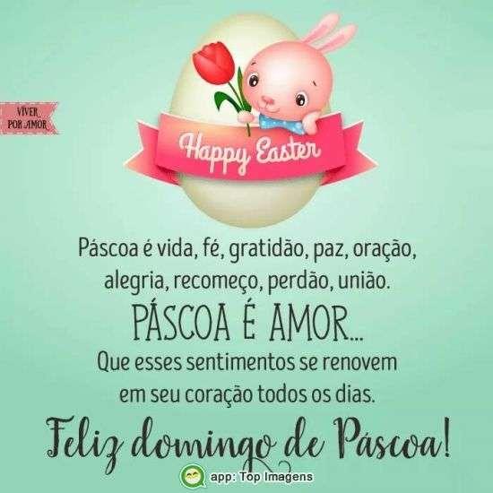 Feliz Domingo de Páscoa