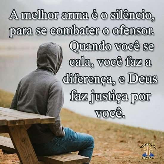A melhor arma é o silêncio