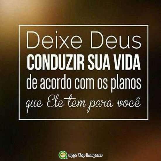 Deixe Deus conduzir sua vida