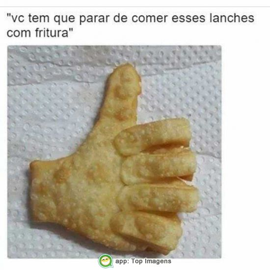 Lanches com fritura