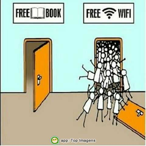 Livro ou wifi