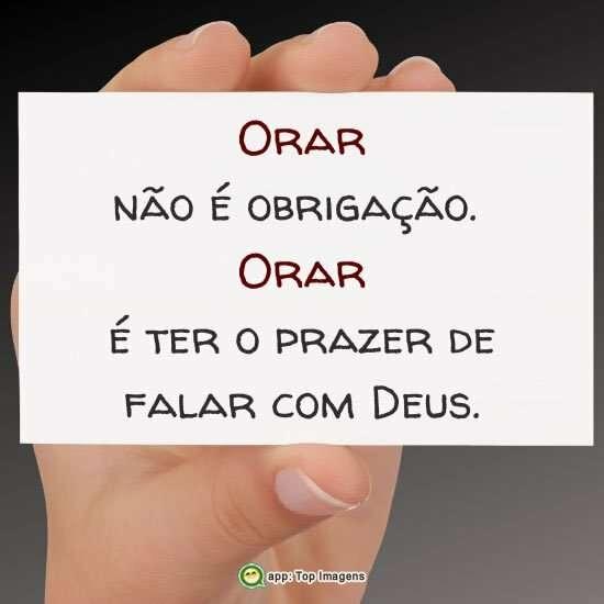 Orar não é obrigação