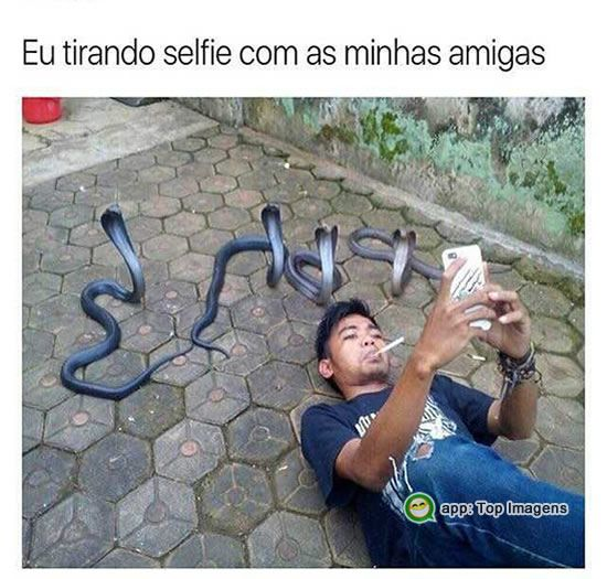 Selfie com as amigas