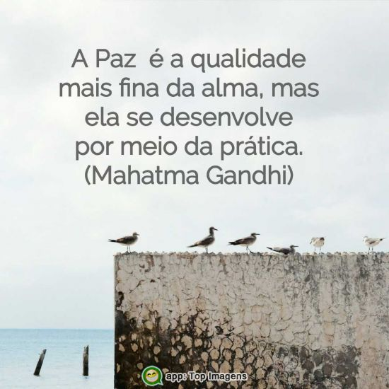 A paz é a qualidade mais fina da alma
