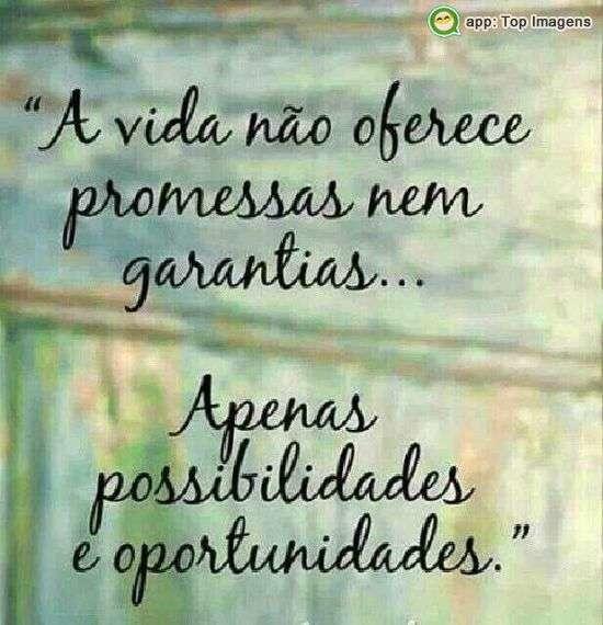 Possibilidades e oportunidades