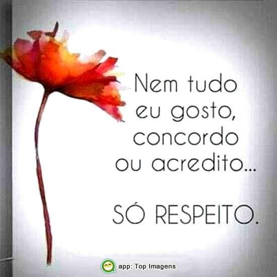 Só respeito