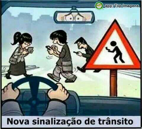 Nova sinalização de trânsito