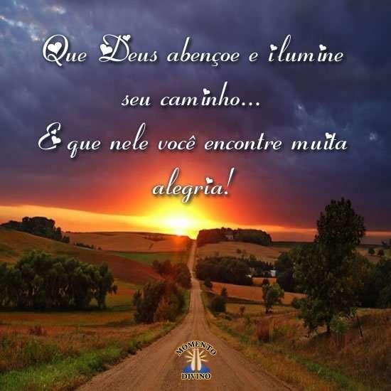 Que Deus abençoe seu caminho