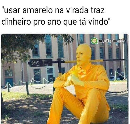 Amarelo traz dinheiro