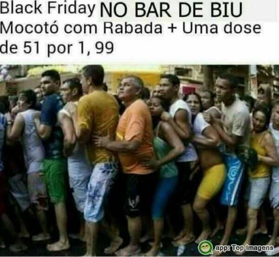 Black Friday no bar